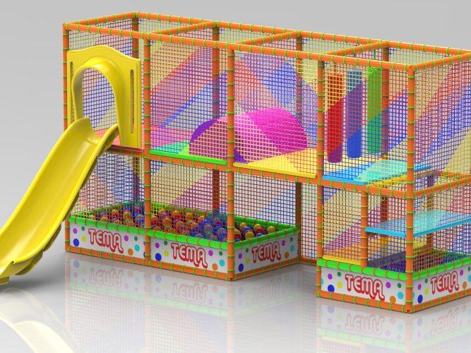 playground arancione noleggio