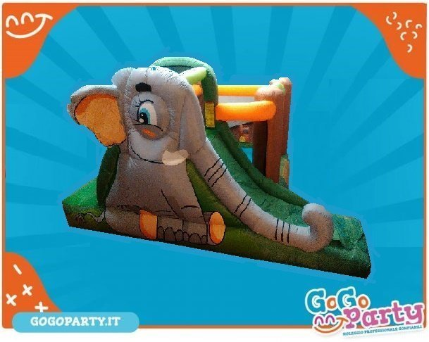 scivolo gonfiabile vendita elefante